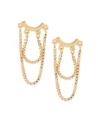 Trina Turk Chain Drop Stud Earrings-YELLOW-One Size