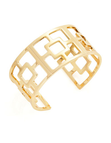 Trina Turk Square Cut-Out Cuff Bracelet-GOLD-One Size