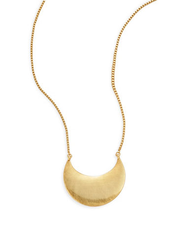 Trina Turk Crescent Pendant Necklace-GOLD-One Size