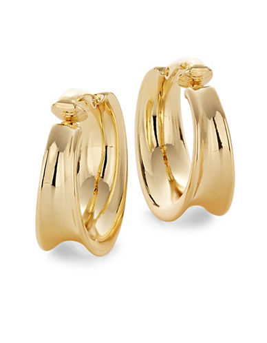 Lauren Ralph Lauren Contoured Clip-On Hoop Earrings-GOLD-One Size