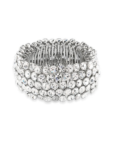 Carolee Broadway Lights Stretch Bracelet-SILVER-One Size