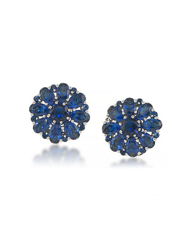 Carolee Floral Button Clip-On Earrings-DARK BLUE-One Size