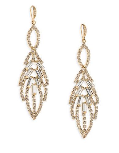 A.B.S. By Allen Schwartz Leaf Chandelier Drop Earrings-WHITE-One Size