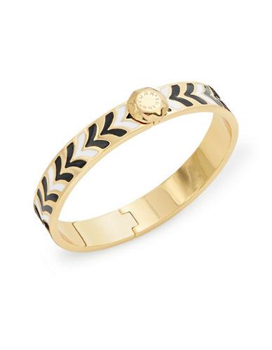 Trina Turk Two-Tone Chevron Bracelet-GREY-One Size