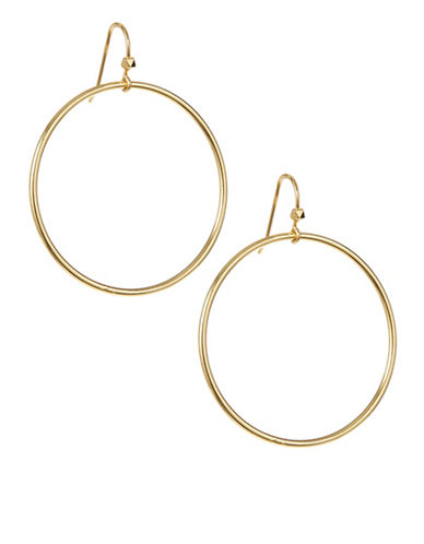 Trina Turk Wire Hoop Earrings-GOLD-One Size