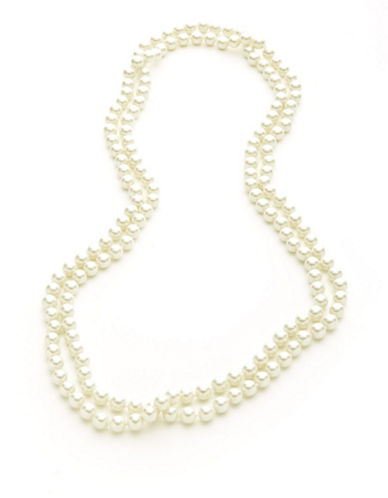 Lauren Ralph Lauren White 60 Inch Pearl Necklace-WHITE-One Size
