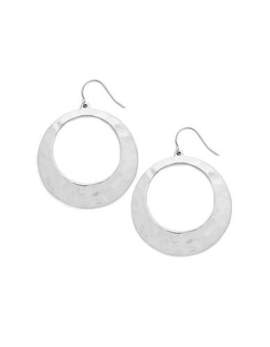Lauren Ralph Lauren Large Round Flat Gypsy Drop Earring-SILVER-One Size