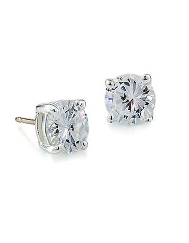 Carolee Round Cubic Zirconian Stud Earrings-SILVER-One Size
