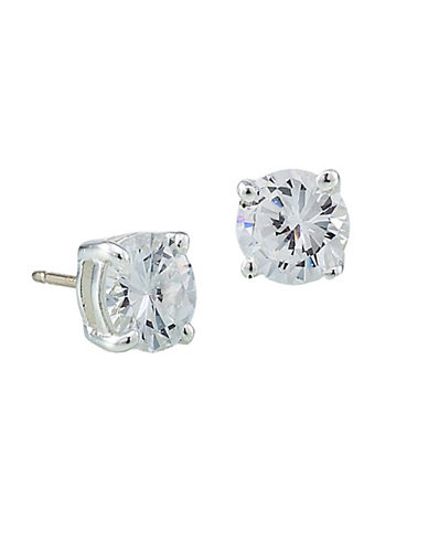 Carolee Small Cubic Zirconia Studs-SILVER-One Size