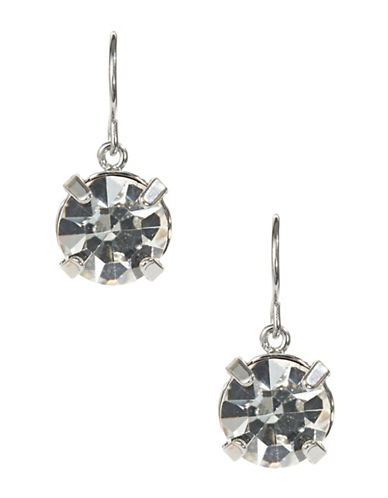 A.B.S. By Allen Schwartz Single Stone Drop Earrings-CHARCOAL-One Size