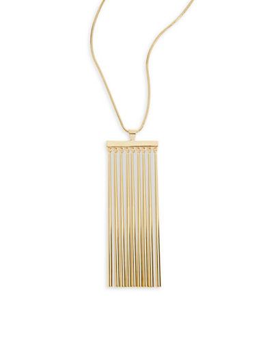 Trina Turk Raver Fringe Frontal Necklace-GOLD-One Size