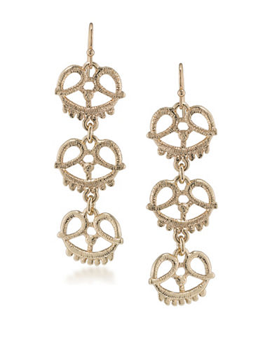Carolee The Hamptons Linear Earrings-GOLD-One Size