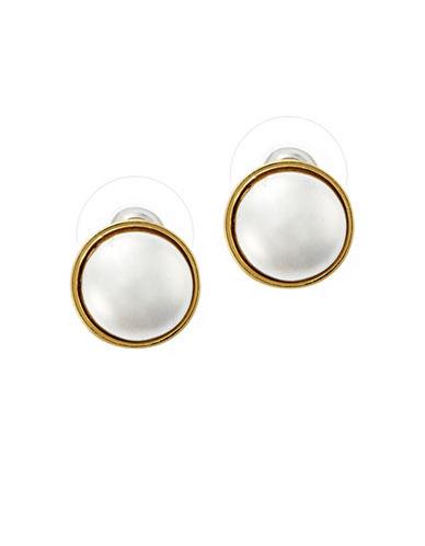 Lauren Ralph Lauren Button Earring-SILVER-One Size