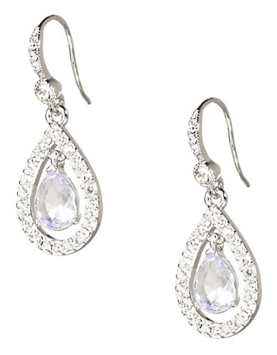 Carolee Simply Blue Briolet Drop Earring-SILVER-One Size