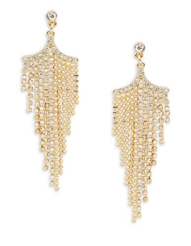 A.B.S. By Allen Schwartz Goldtone Chain Chandelier Earrings-GOLD-One Size