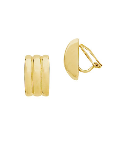 Lauren Ralph Lauren Medium Ribbed Clip-GOLD-One Size