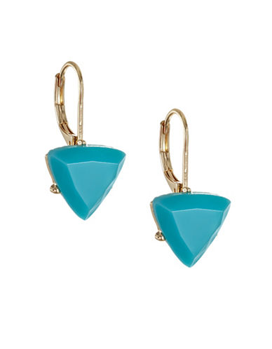 A.B.S. By Allen Schwartz Going Coastal Stone Drop Earrings-BLUE-One Size