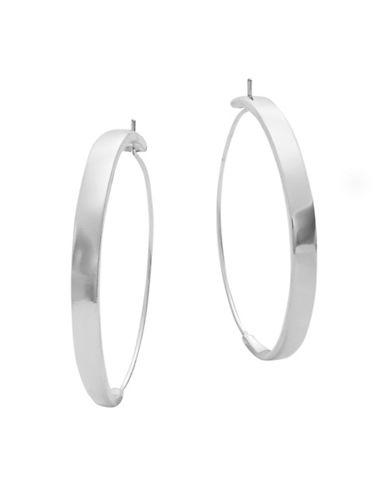 Lauren Ralph Lauren Belle Island Endless Hoop Earrings-SILVER-One Size