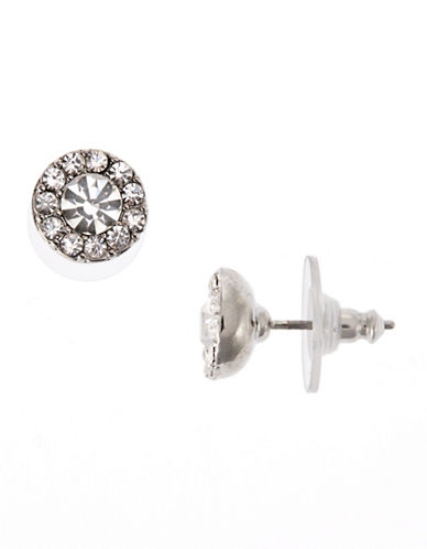 Lauren Ralph Lauren Round Pave Stud Earring-SILVER-One Size