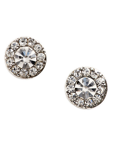 Lauren Ralph Lauren Round Pave  Earring-SILVER-One Size