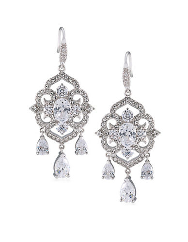 Carolee The Cloisters Chandelier Earrings-SILVER-One Size