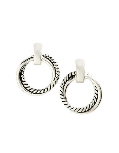 Lauren Ralph Lauren Twisted Doorknocker Earring-SILVER-One Size