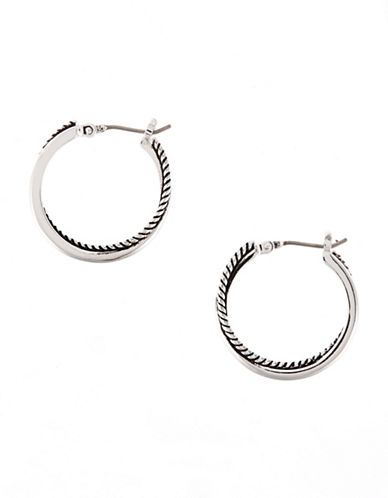 Lauren Ralph Lauren Small Twisted Hoop Earring-SILVER-One Size