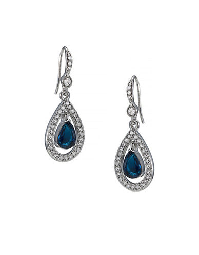 Carolee Simply Blue Briolet Drop Earring-BLUE-One Size