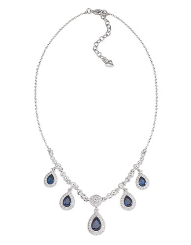 Carolee Simply Blue Frontal Drop Necklace-BLUE-One Size