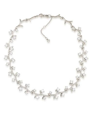 Carolee Prospect Park Vine Choker Necklace-WHITE-One Size