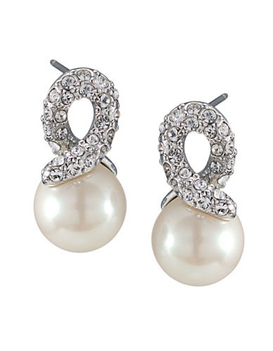 Carolee Love Knot Drop Earring-PEARL-One Size