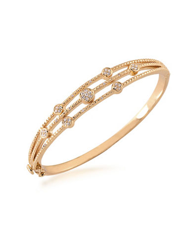 Carolee Bryant Park Hinged Bangle Bracelet-GOLD-One Size