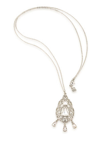 Carolee Washington Square Pendant Necklace-WHITE-One Size