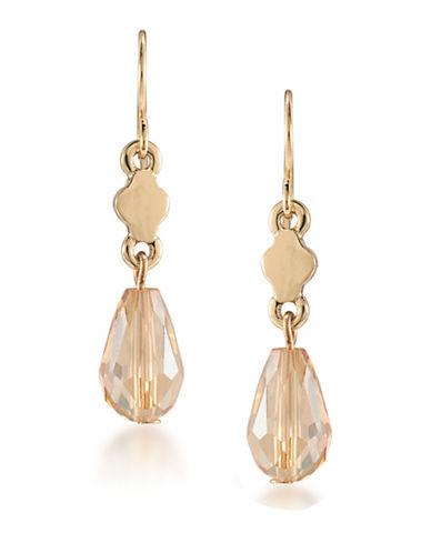 Carolee Battery Park Double Drop Earrings-GOLD-One Size