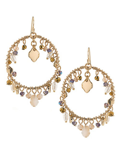 Carolee Battery Park Gypsy Hoop Earrings-GOLD-One Size