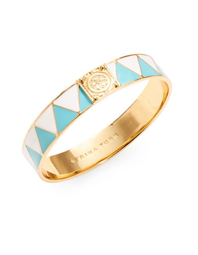 Trina Turk Goldtone Geo-Shaped Bangle Bracelet-BLUE-One Size
