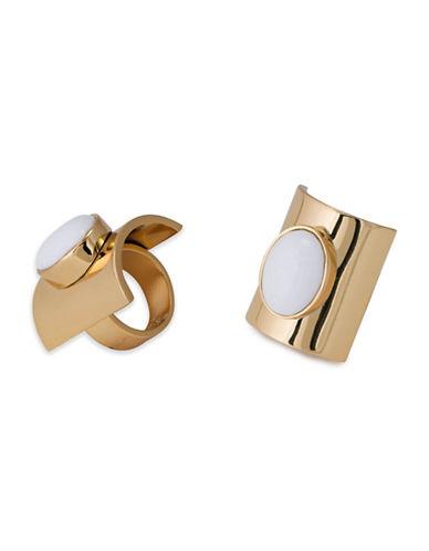 Trina Turk Free Spirit Oval Stone Ring-WHITE-7