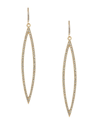 A.B.S. By Allen Schwartz Pave Navette Drop Earrings-GOLD-One Size
