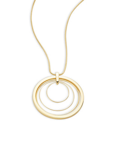Trina Turk Circle Pendant Necklace-GOLD-One Size