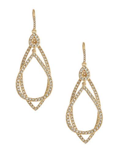 A.B.S. By Allen Schwartz Pave Orbital Drop Earrings-GOLD-One Size