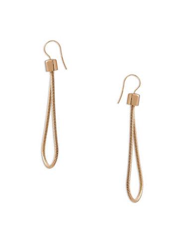 Trina Turk 14K Goldplated Looped Earrings-GOLD-One Size