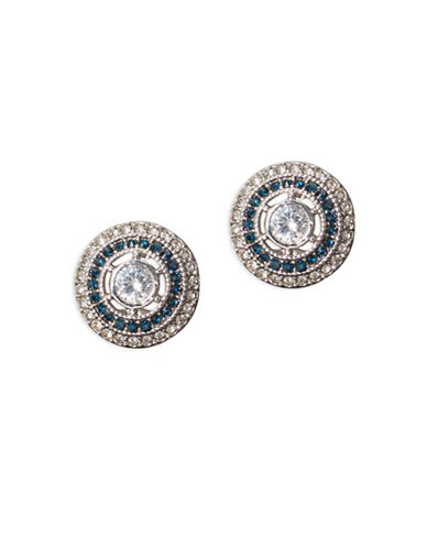Lauren Ralph Lauren Spring Bridal Stone Circle Clip Earrings-WHITE-One Size