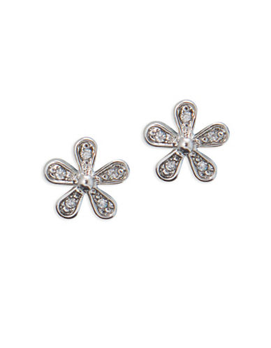 Lauren Ralph Lauren Spring Bridal Crystal Glass Floral Stud Earrings-WHITE-One Size