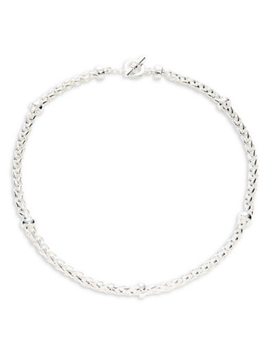 Lauren Ralph Lauren Chain Collar Necklace-SILVER-One Size
