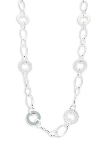 Lauren Ralph Lauren Circle Station Necklace-SILVER-One Size