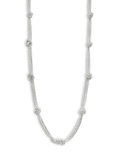 Lauren Ralph Lauren Knotted Chain Necklace-SILVER-One Size
