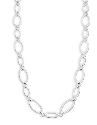 Lauren Ralph Lauren Oval Link Necklace-SILVER-One Size