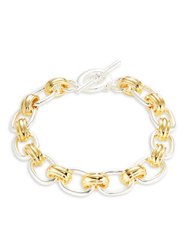 Lauren Ralph Lauren Cable Chain Toggle Bracelet-TWO TONE-One Size