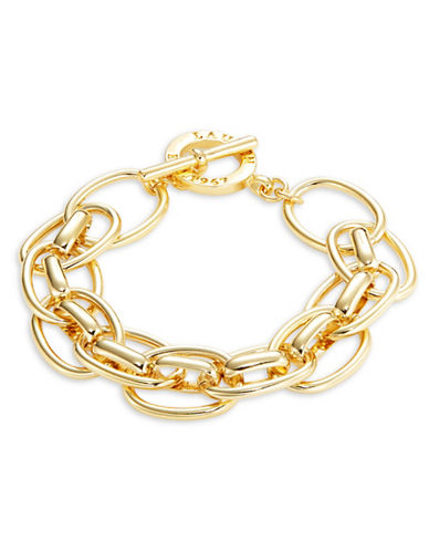 Lauren Ralph Lauren Double Chainlink Toggle Bracelet-GOLD-One Size