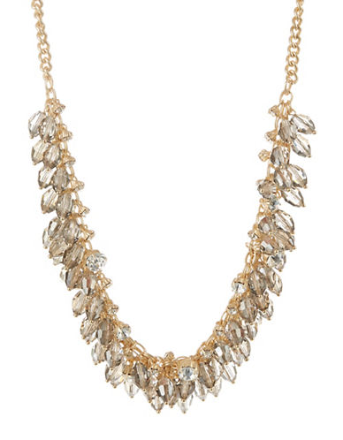 A.B.S. By Allen Schwartz Faceted Cluster Necklace-GOLD-One Size